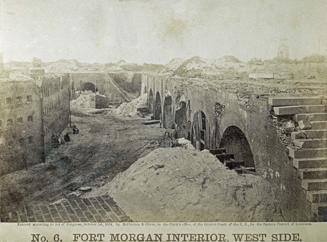 Fort Morgan Interior West Side McPherson and Oliver Photographers Civil War September 1864